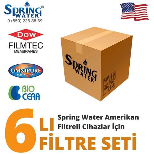 Spring Water Amerikan Cihazlar İçin Filtre Seti
