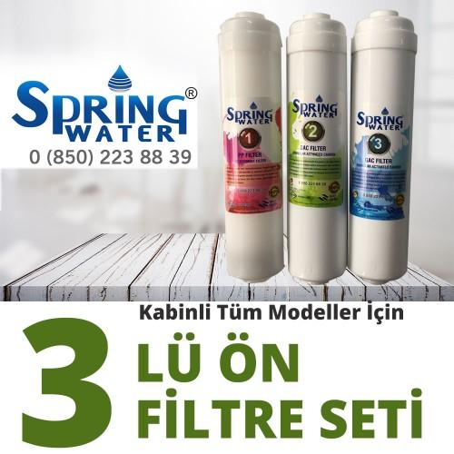 Spring Water 3 lü Ön Filtre Seti - Tüm Modeller İçin