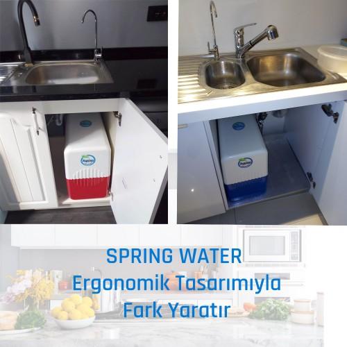 Spring Water 12 Litre Tanklı 11 Aşamalı Su Arıtma Cihazı - Su Kaçağı Sensörlü