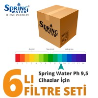 Spring Water ph 9,5 Su Arıtma Cihazı Filtre Seti - Biocera Alkali Filtreli Cihaz İçin